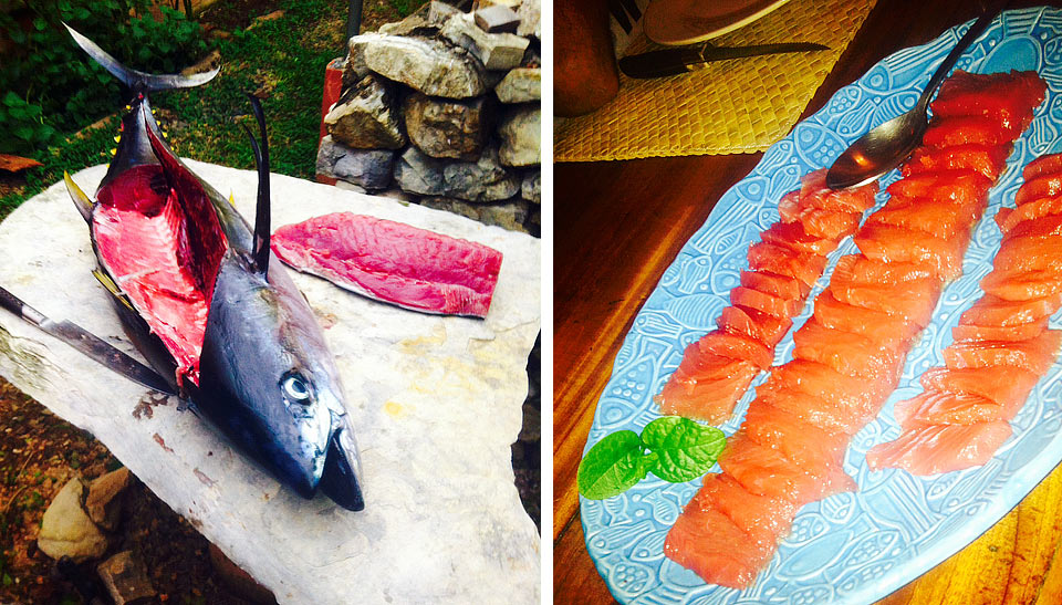 Fresh tuna for dinner!